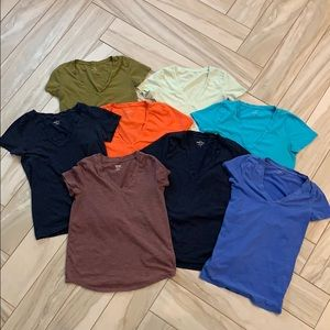 Tops - Lot of 8 V-Neck T-Shirts Various Brands and Sizes